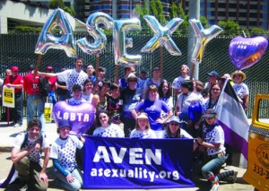 Asexual group at 2011 San Francisco parade