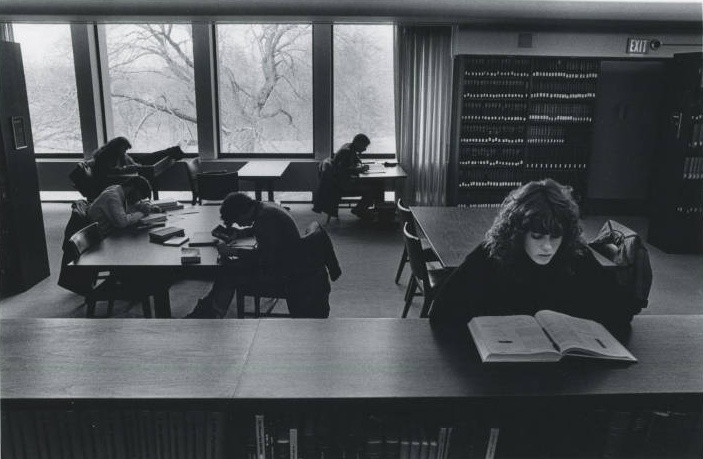 Studying in Canaday circa 1970's